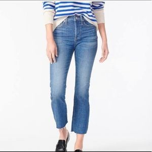 J. Crew mercantile cropped frayed jeans